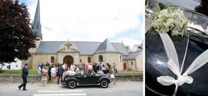 mariage champêtre: cérémonie religieuse Saint-Avé - Bretagne - par Marie Baillet Photographe