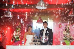 mariage champêtre: gateau au Jardin des Acanthes - Bretagne - par Marie Baillet Photographe