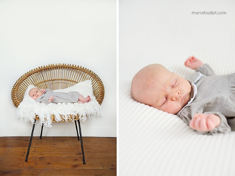 séance bébé / portrait naissance / photo nouveau-né sur le Morbihan par Marie Baillet photographe