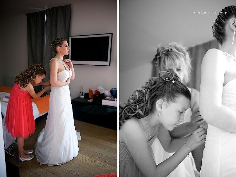 photo préparatifs mariage au Castel Beau Site Côtes d'Armor par Marie Baillet photographe