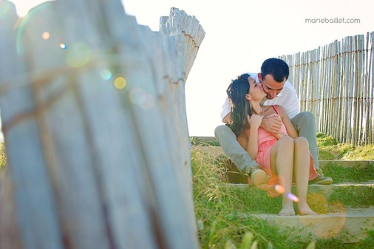 séance amoureux à la plage
