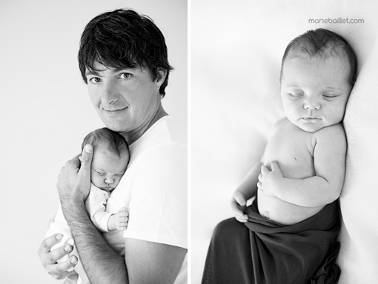 shooting bébé à la maison par Marie Baillet photographe Morbihan