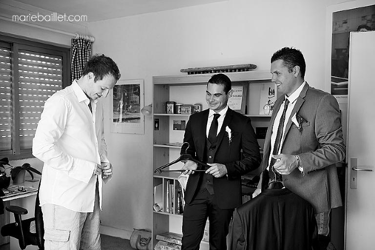 préparatifs mariage à Larmor-Plage - photographe mariage Bretagne