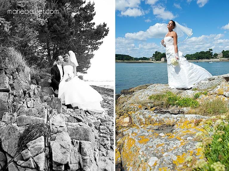séance couple - mariage à Saint-Armel - photographe Bretagne
