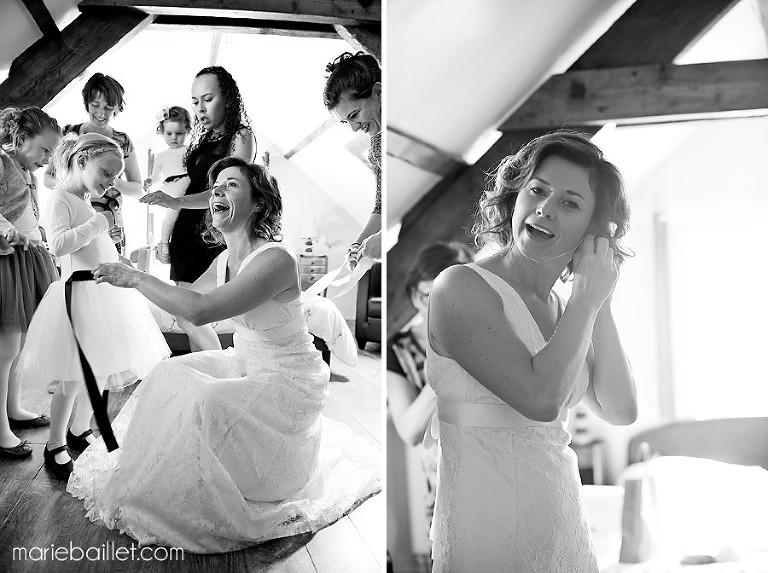 photo de mariage cool à Saint Philibert by Marie Baillet photographe mariage Morbihan