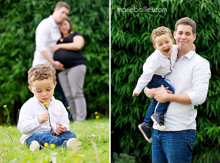 séance photos grossesse à domicile - photographe professionnelle Bretagne