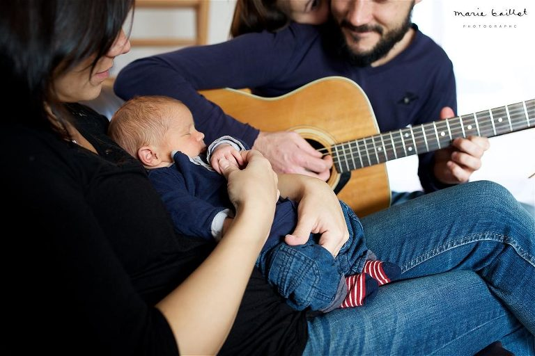 Faire-part de naissance 56 / séance photo bébé à domicile © Marie Baillet photographe Morbihan