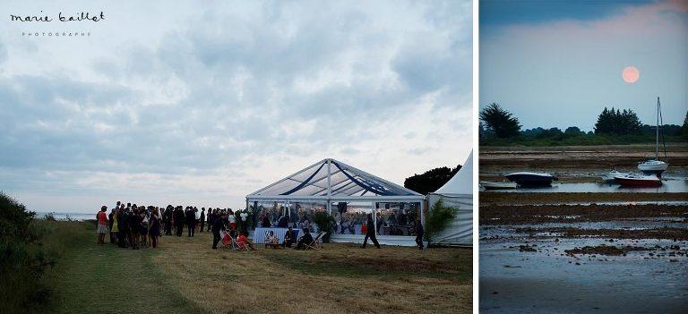 mariage dans le golfe du Morbihan, demeure familiale du Brénéguy