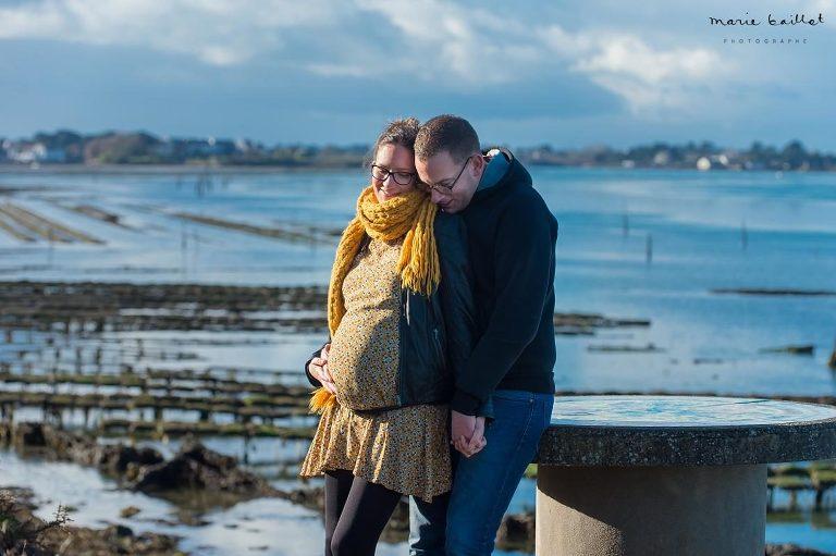 séance bidon et bébé - photographe professionnelle 56