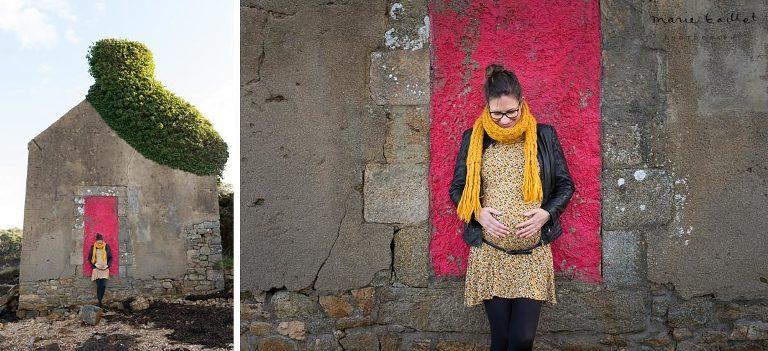 Photos femme enceinte par Marie Baillet photographe grossesse Morbihan