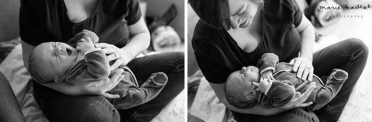 photo nouveau-né / portrait naissance par Marie baillet, photographe Morbihan